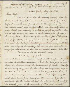 Letter from William Lloyd Garrison, New York, to Helen Eliza Garrison, May 14, 1863