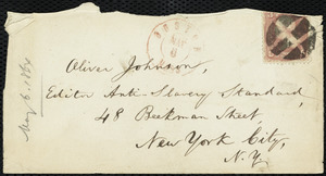 Letter from William Lloyd Garrison, Boston, [Mass.], to Oliver Johnson, May 6, 1864