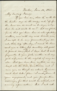 Letter from William Lloyd Garrison, Boston, [Mass.], to Fanny Garrison Villard, June 30, 1865