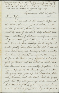 Letter from William Lloyd Garrison, Syracuse, [N.Y.], to Helen Eliza Garrison, Oct. 31, 1865