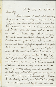 Letter from William Lloyd Garrison, Lockport, [N.Y.], to Helen Eliza Garrison, Nov. 2, 1865