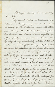 Letter from William Lloyd Garrison, Pittsburgh, [Pa.], to Helen Eliza Garrison, Sunday, Dec. 3, 1865