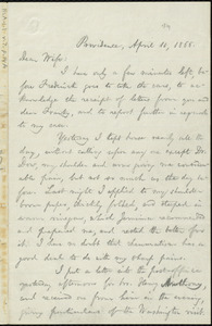 Letter from William Lloyd Garrison, Providence, [R.I.], to Helen Eliza Garrison, April 11, 1866