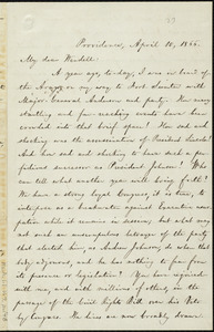 Letter from William Lloyd Garrison, Providence, [R.I.], to Wendell Phillips Garrison, April 10, 1866