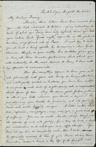 Letter from William Lloyd Garrison, Rockledge, [Mass.], to Fanny Garrison Villard, August 11, 1866