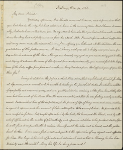 Copy of letter from William Lloyd Garrison, Roxbury, [Mass.], to Samuel May, Dec. 30, 1866