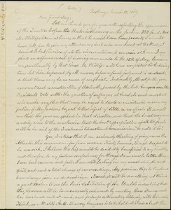 Copy of letter from William Lloyd Garrison, Roxbury, [Mass.], to Samuel May, March 10, 1867