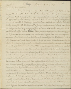 Copy of letter from William Lloyd Garrison, Roxbury, [Mass.], to Samuel May, April 5, 1867
