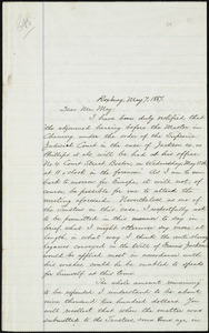 Copy of letter from William Lloyd Garrison, Roxbury, [Mass.], to Samuel May, May 7, 1867