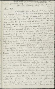 Letter from William Lloyd Garrison, At Sea, to Helen Eliza Garrison, Thursday, 10 A.M., May 16, [1867]