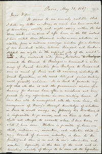 Letter from William Lloyd Garrison, Paris, [France], to Helen Eliza Garrison, May 31, 1867