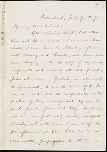 Letter from William Lloyd Garrison, Gateshead, to Elizabeth Pease Nichol, July 9, 1867