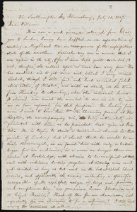 Letter from William Lloyd Garrison, 22 Southampton St., Bloomsbury, [London, England], to William Lloyd Garrison, July 21, 1867
