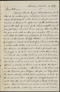 Letter from William Lloyd Garrison, London, [England], to William Lloyd Garrison, October 12, 1867