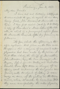 Letter from William Lloyd Garrison, Roxbury, [Mass.], to Francis Jackson Garrison, Jan. 2, 1868