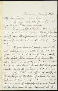 Letter from William Lloyd Garrison, Roxbury, [Mass.], to Henry Clarke Wright, Jan. 11, 1868
