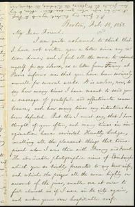Letter from William Lloyd Garrison, Boston, [Mass.], to Elizabeth Pease Nichol, Feb. 18, 1868