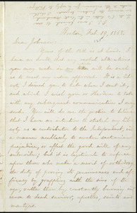 Letter from William Lloyd Garrison, Boston, [Mass.], to Oliver Johnson, Feb. 19, 1868