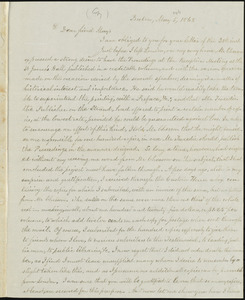 Copy of letter from William Lloyd Garrison, Boston, [Mass.], to Samuel May, May 5, 1868