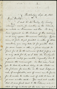 Letter from William Lloyd Garrison, Rockledge, [Roxbury, Mass.], to Wendell Phillips Garrison, Sept. 10, 1868