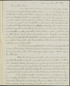 Letter from William Lloyd Garrison, Roxbury, [Mass.], to Samuel May, May 15, 1869