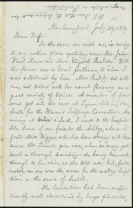 Letter from William Lloyd Garrison, Newburyport, [Mass.], to Helen Eliza Garrison, July 29, 1869