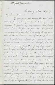 Letter from William Lloyd Garrison, Roxbury, [Mass.], to Elizabeth Pease Nichol, Sept. 26, 1869