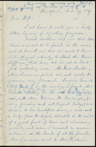 Letter from William Lloyd Garrison, Hartford, [Conn.], to Helen Eliza Garrison, Oct. 29, 1869