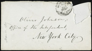 Letter from William Lloyd Garrison, Roxbury, [Mass.], to Oliver Johnson, Nov. 14, 1869