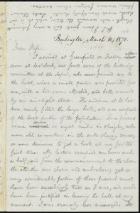 Letter from William Lloyd Garrison, Burlington, [Vt.], to Helen Eliza Garrison, March 10, 1870