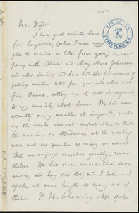 Letter from William Lloyd Garrison, The Nation, 3 Park Place, N.Y, to Helen Eliza Garrison, Jun[e] 6, 1870