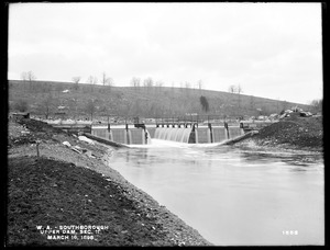 Wachusett Aqueduct, Upper Dam, Open Channel, Section 11, from the east, on south side of channel, Southborough, Mass., Mar. 16, 1898