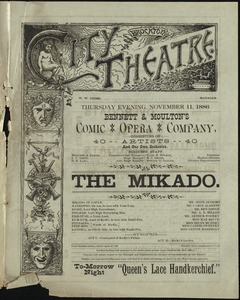 The Mikado--Bennett & Moulton's Comic Opera Company