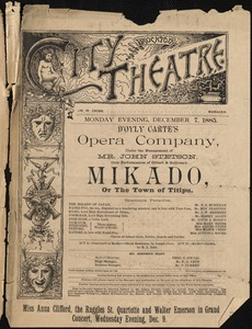 Mikado, or the town of Titipu--D'Oyly Carte's Opera Company