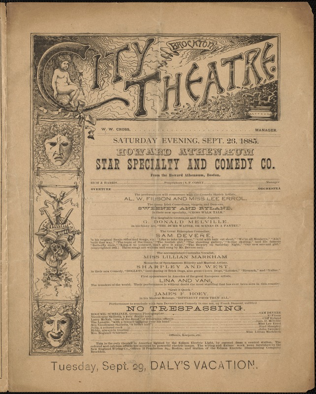 Howard Athenaeum Star Specialty and Comedy Co.