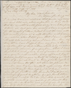 Sophia Willard Dana Ripley autograph letter signed to John Sullivan Dwight, [West Roxbury], August 1, 1840