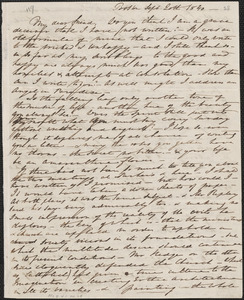 Elizabeth Palmer Peabody autograph letter signed to John Sullivan Dwight, Boston, September 20, 1840