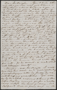 Elizabeth Palmer Peabody autograph letter signed to John Sullivan Dwight, [Boston], [April 26, 1841]