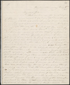 Sophia Willard Dana Ripley autograph letter signed to John Sullivan Dwight, Boston, May 6, [1841]