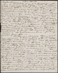 Elizabeth Palmer Peabody autograph letter signed to John Sullivan Dwight, [Boston], June 24, 1841