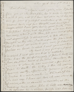 Lydia Maria Child autograph letter signed to John Sullivan Dwight, New York, December 1, 1842