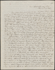 George William Curtis autograph letter signed to John Sullivan Dwight, New York, November 11, 1843