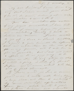 Albert Brisbane autograph letter signed to John Sullivan Dwight, New York, [December 15, 1845]
