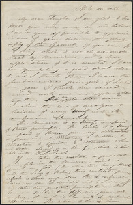 Albert Brisbane autograph letter signed to John Sullivan Dwight, New York, December 30, 1845