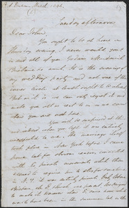 Charles Anderson Dana autograph letter signed to John Sullivan Dwight, [Brook Farm], [March 1846]