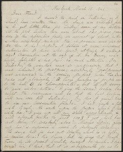 John Sullivan Dwight autograph letter signed to George Ripley, New York, March 16, 1846