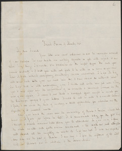 George Ripley autograph letter signed to John Sullivan Dwight, Brook Farm, March 19, 1846