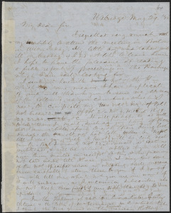 Marcus Spring autograph letter signed to John Sullivan Dwight, Uxbridge, May 29, 1846