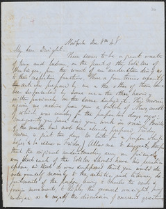 Parke Godwin autograph letter signed to John Sullivan Dwight, New York, December 8, 1848