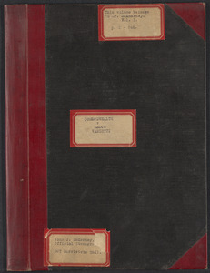 Sacco-Vanzetti Case Records, 1920-1928. Transcripts. Bound Trial Transcripts (belongs to Mr. McArnarney), 1921. Box 28, Volume 1, Harvard Law School Library, Historical & Special Collections